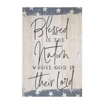 Blessed Nation - Rustic Pallet