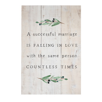 Successful Marriage - Rustic Pallet