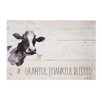 Grateful Thankful - Rustic Pallet