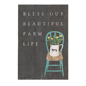 Beautiful Farm Life - Rustic Pallet