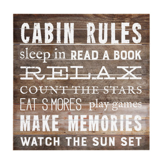 Cabin Rules - Perfect Pallet