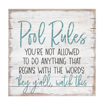 Pool Rules - Perfect Pallet