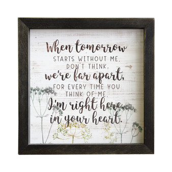 In Your Heart - Rustic Frame