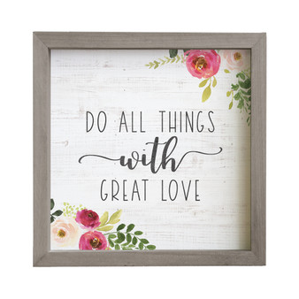 Do All Things - Rustic Frame