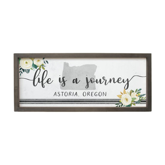 Life Is A Journey PER STATE - Farmhouse Frame