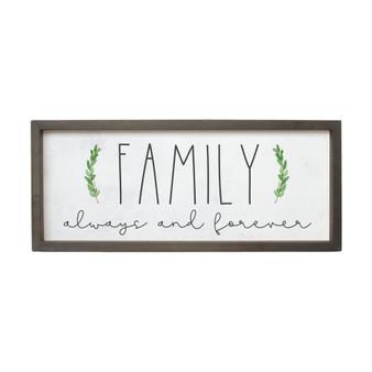 Family Always And - Farmhouse Frame