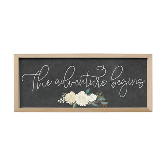 The Adventure Begins - Farmhouse Frame