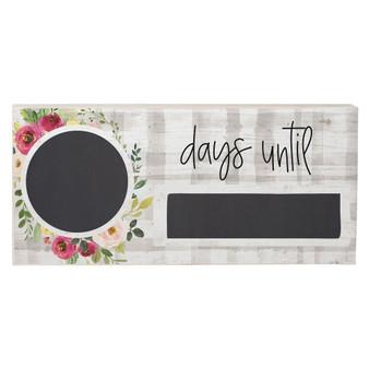 Days Until Floral - Chalk Talk