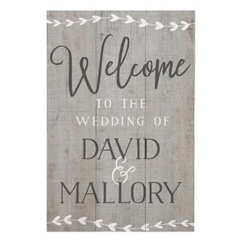 Welcome Wedding PER - Rustic Pallet