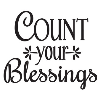 Count your Blessings - Mini Design