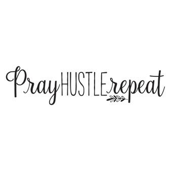 Pray Hustle Repeat - Rectangle Design