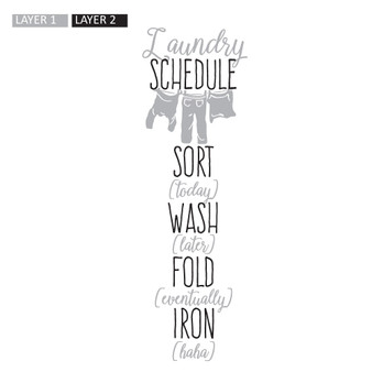 Laundry Schedule - Rectangle Design