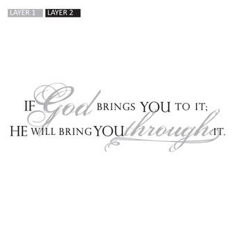 God Brings - Rectangle Design