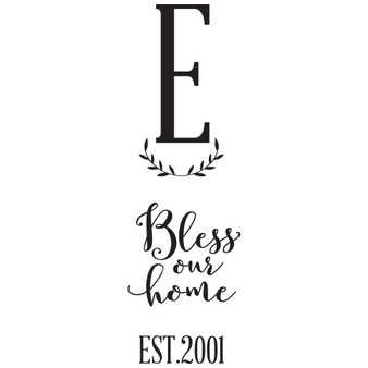 Bless Our Home PER - Rectangle Design