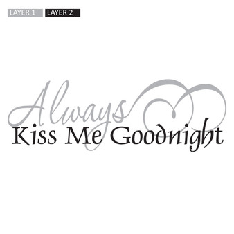 Kiss Me Goodnight - Rectangle Design