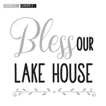 Bless Our Lake House PER - Square Design