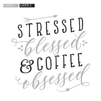 Coffee Obsessed - Square Design