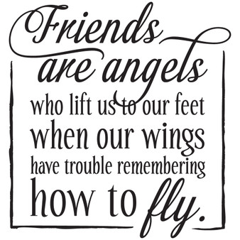 Friends Are Angels - Square Design