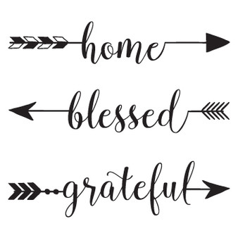 Home Blessed Grateful - Square Design