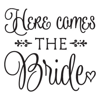 Here Comes the Bride - Square Design