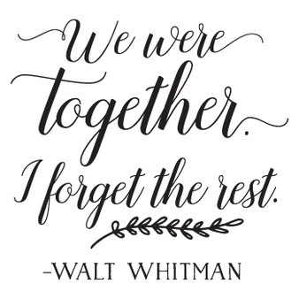 We Were Together PER - Square Design