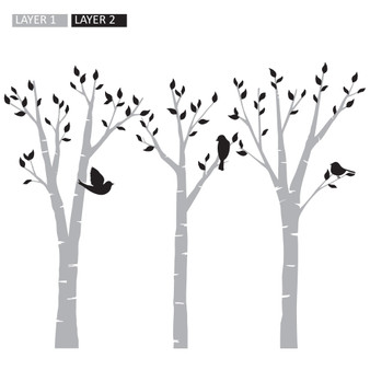 Birds in Trees - Wall Design