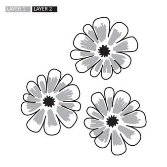 Three Flowers - Wall Design