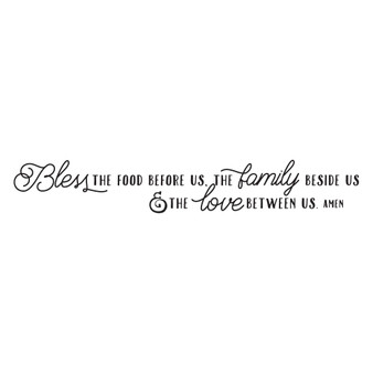 Bless the Food Before Us - Wall Design