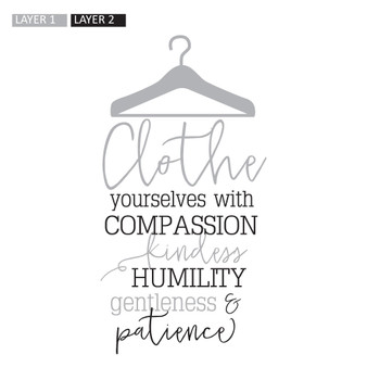 Clothe Yourselves With Compassion - Wall Design