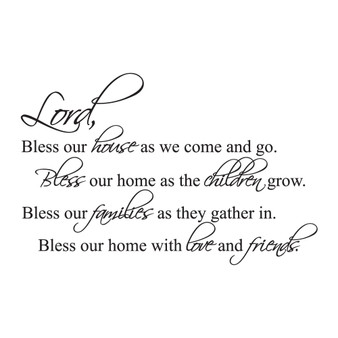 Lord Bless Our House - Wall Design