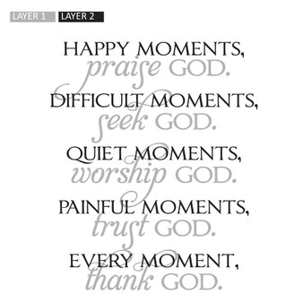 Happy Moments, Praise God - Wall Design