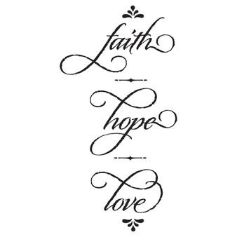 Faith Hope Love - Wall Design