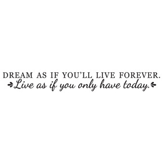 Dream As If You'll Live Forever - Wall Design