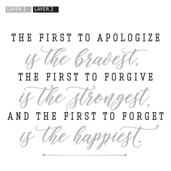 The First to Apologize - Wall Design