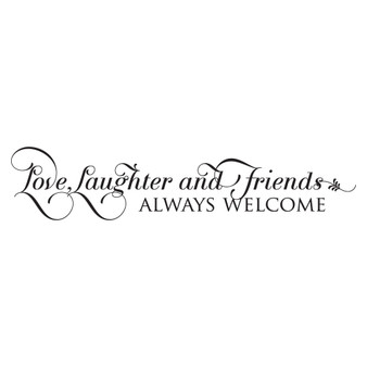 Love, Laughter and Friends - Wall Design