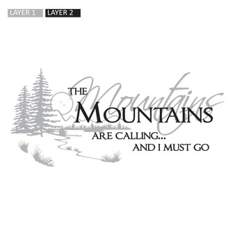 Mountains Are Calling - Wall Design