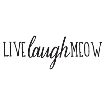 Live Laugh Meow - Wall Design