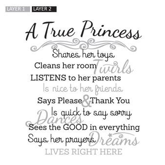 A True Princess - Wall Design