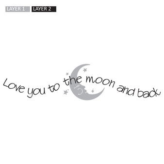 Love You to the Moon - Wall Design