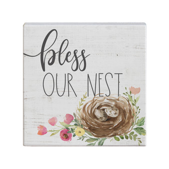 Bless Our Nest- Small Talk Square