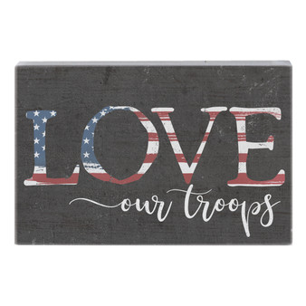 Love Our Troops - Small Talk Rectangle