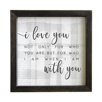 I Love You - Rustic Frame