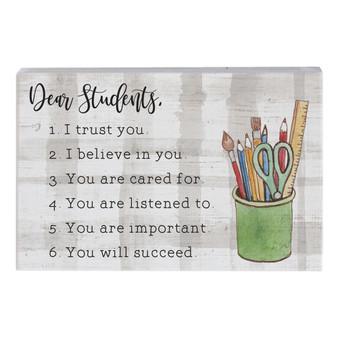Dear Students - Small Talk Rectangle
