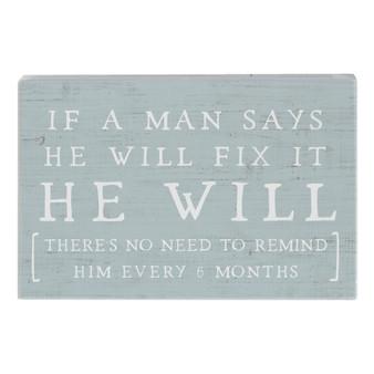 He Will Fix It - Small Talk Rectangle