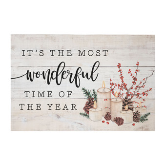 Most Wonderful Time - Rustic Pallet