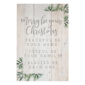 Merry Be Your Christmas - Rustic Pallet