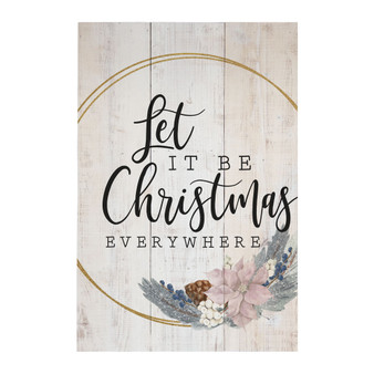Let It Be Christmas - Rustic Pallet