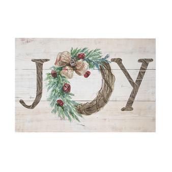 Joy Wreath - Rustic Pallet