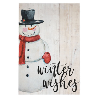 Winter Wishes - Rustic Pallet