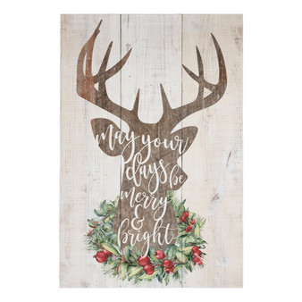 Merry and Bright - Rustic Pallet